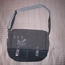 American Eagle Messenger Bag Blue and Gray Photo