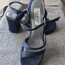 American Eagle Navy Blue Microfiber Sandals - Nwb Photo