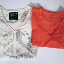 American Eagle Nwt & Bitten (Sarah Jessica Parker) Nwot Juniors Tshirts Size L Photo