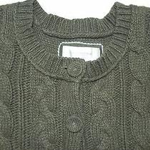 American Eagleolive Green 2 Button Cardigan 3/4 Sleeve Sweater Size Xsln Photo