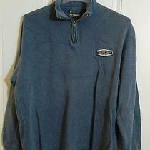 American Eagle Outfitters 1/2 Zip Sweater Blue Medium Long Sleeve  Photo