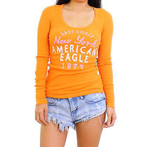 American Eagle Outfitters 21h/m Orange Graphic Tee Forever Size Xs Photo