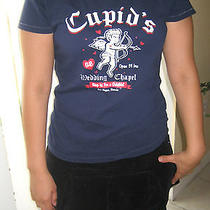 American Eagle Outfitters Ae Dark Blue Navy Cupid T-Shirt Tee a&f Hco Medium M Photo