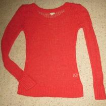 American Eagle Outfitters Aeo Aerie Open-Stitch Sweater Red Wool Blend Medium Photo