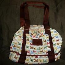 American Eagle Outfitters Beautiful Butterfly Purse in Exc. Cond. Nylon Material Photo