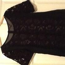 American Eagle Outfitters Black Sheer/lace Front Top M Gorgeous Photo