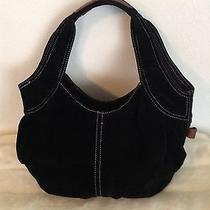 American Eagle Outfitters Black Suede Hobo Handbag Photo