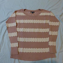 American Eagle Outfitters Blush Lace Sweater Photo