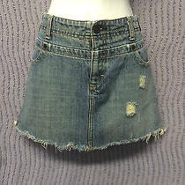 American Eagle Outfitters Denim Mini Skirt Junior Size 10 Photo