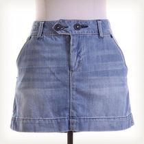 American Eagle Outfitters Denim Mini Skirt Sz 10 Blue Photo