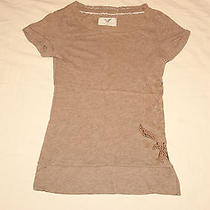 American Eagle Outfitters Embroidered T-Shirt (Xs) Photo