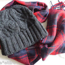 American Eagle Outfitters Hat and Scarf Set New Wool Blend  Photo