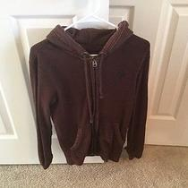 American Eagle Outfitters Men's Maroon Waffle Sweatshirt Hoodie Size Xs Photo