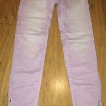 American Eagle Outfitters Purple Pink Zip Ankle Pink Purple Faded Jean Size 1 Photo