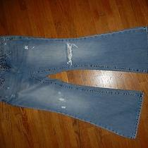 American Eagle Outfitters  Real Flare Sz 4 S Sz 27 X 30 Distressed Photo