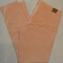 American Eagle Outfitters Stretch Skinny Jeans Pink/blush Women's Size 14 Regula Photo