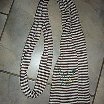 American Eagle Outfitters Striped Logo Scarf Nwt Photo