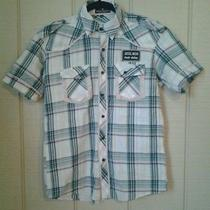 American Eagle Outfitters Vintage Slim Fit Plaid Diesel Wear Ss Shirt Size Large Photo