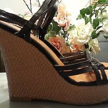 American Eagle Outfitters Wedges Platforms Strappy Black Size 7 Women Slingbacks Photo