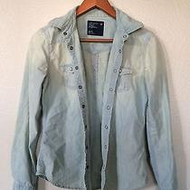 American Eagle Outfitters Western Denim Shirt Size Xs Photo