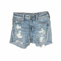 American Eagle Outfitters Women Blue Denim Shorts 0 Photo