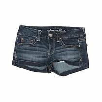American Eagle Outfitters Women Blue Denim Shorts 00 Photo