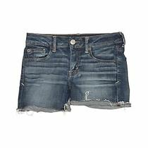 American Eagle Outfitters Women Blue Denim Shorts 2 Photo