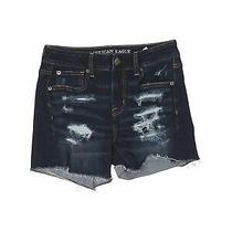 American Eagle Outfitters Women Blue Denim Shorts 4 Photo