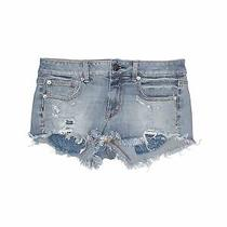 American Eagle Outfitters Women Blue Denim Shorts 6 Photo