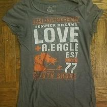 American Eagle Outfitters Women's Graphic Tshirt Size S Grey Photo