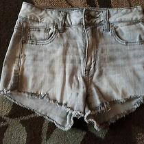 American Eagle Outfitters Women's Super Stretch Gray Denim Jean Shorts Size 2 Photo