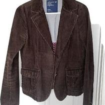 American Eagle Outfitters Womens Brown Corduroy Blazer Jacket Size Medium Photo