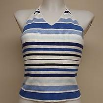 American Eagle Outfitters Womens Spaghetti Strap Striped Tank Top Sz Xl Photo