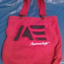 American Eagle Purse Red Tote Bag Nice Clean Photo