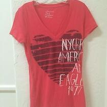 American Eagle Red Womens Shirt Size M Photo