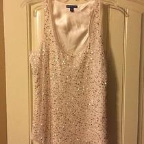 American Eagle Sequin Top Size 10 Blush Photo