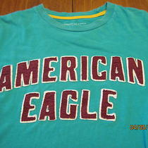American Eagle Sewn Felt Letter Logo Muscle Fit  T- Shirt Photo