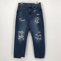 American Eagle Size 4 Short 90s Boyfriend Blue Jeans Destroy Distressed New Tags Photo