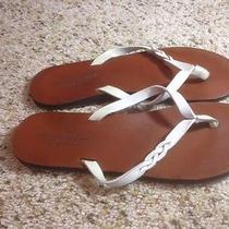 American Eagle Size 8 Womens White  Flip Flops Ked Photo
