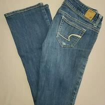 American Eagle Slim Boot Jeans Size 0 Low Rise Denim Photo