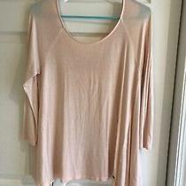 American Eagle Soft & Sexy T 3/4 Sleeve Top Blush Pink Medium Photo