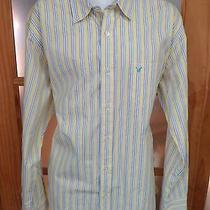 American Eagle Striped Dress Shirt Sz Xxl Photo