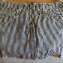 American Eagle Striped Mini Skirt Size 10 Photo