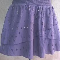 American Eagle Tiered Mini Skirt Beads Size Xs Photo
