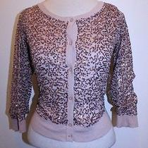 American Eagle Top S Pink Blush Button Front 3/4