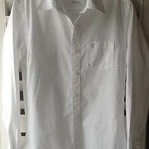 American Eagle Vintage Fit L/s Button Down White Casual Dress Shirt Xs/tp Euc Photo