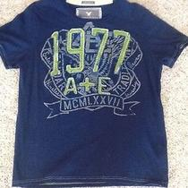 American Eagle Vintage Fit T Shirt Blue Large Slim Fit Photo