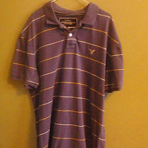 American Eagle Vintage Polo Xl/tg Violet Photo
