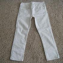 American Eagle White Crop Jeans Size 2 Photo