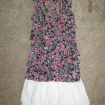 American Eagle White Eyelet Skirt Size xs.lacey Floral Express Shirt-Size Medium Photo
